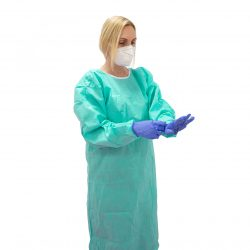 Bata desechable quirúrgica no estéril